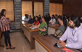 "MBA Dept. organizes an Expert Talk on ""Professional Etiquette"""