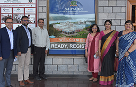 Dean-WeSchool (Welingkar Education), Bangalore Campus and Team, visits Sahyadri