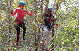 A Three-Day Outbound Training organized for MBAs at Nature Bound Sahyadri Camp, Ankola
