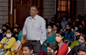 Chairman holds Interaction session with the First year MBAs