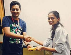 MBA Alumna awarded as the Performer of the Month in the 1st month of GO-LIVE