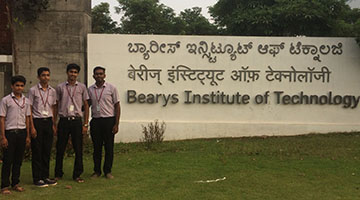 Sahyadrians win in a Robotic Event at Bearys Institute of Technology