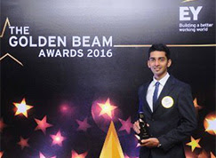 Sahyadri MBA Alumnus wins Golden Beam Award