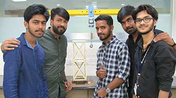 M.Tech Civil Engineering Students ranked third in model making at IIT, Bombay